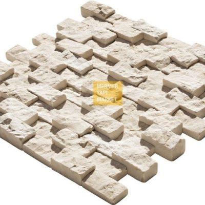 Bej Mermer 3 Boyut Patlatma Mozaik