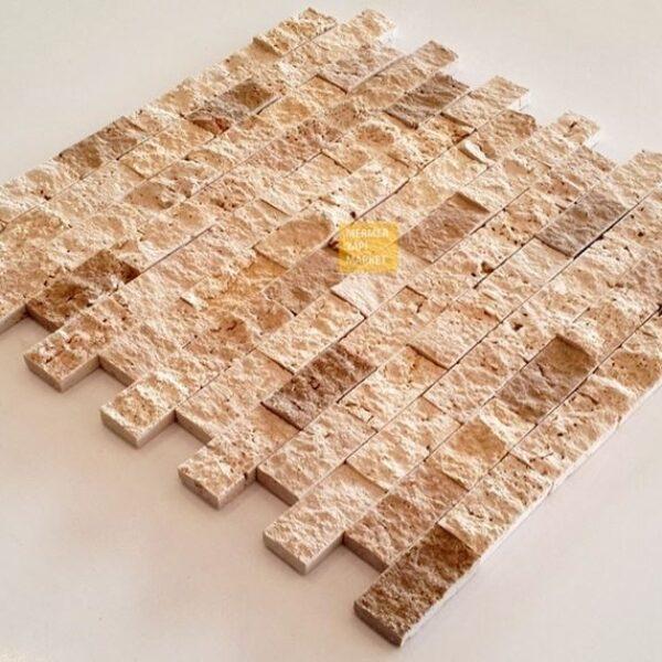 Bej Mermer Patlatma Mozaik