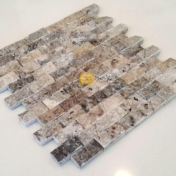 Gümüş Patlatma Traverten Mozaik