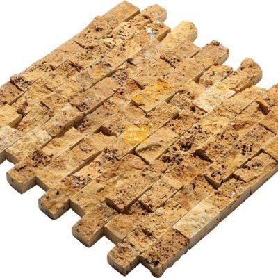 Sarı Traverten Patlatma Mozaik