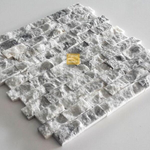 Silver Mermer Patlatma Mozaik